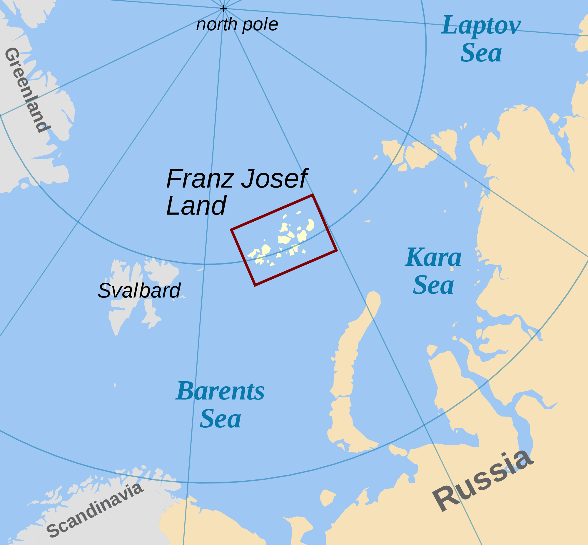 Franz Josef Land location